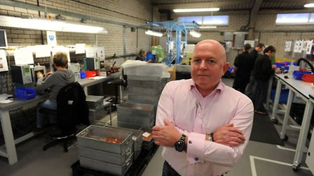 Business feature at Redbourn Engineering in Mildenhall. John Chester (ch exec).