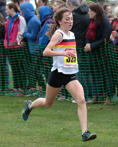 Nelly Porter, who was 32nd in the intermediate girls race. Picture : Tony Payne.