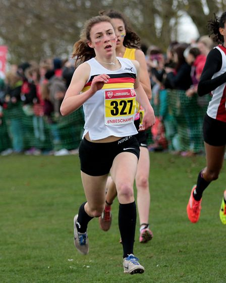 Kate Willis finished an excellent 15th in the junior girls' race. Picture: Tony Payne