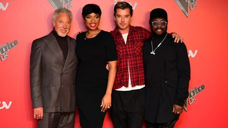Coaches (left-right) Sir Tom Jones, Jennifer Hudson, Gavin Rossdale and will.i.am attending the Voic