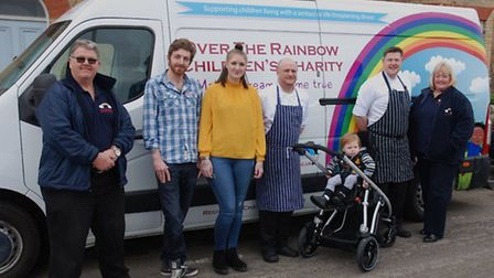 From left trustee Andy Jaques, Nathan Griffen, Paige Norman, James Barber, Lincoln, hotel sous-chef