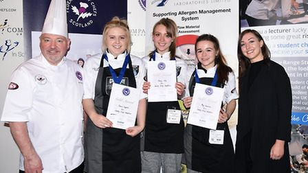 Chloe Satterlay, Stacey Jolly and Meg Greenacre, from City College Norwich who came third place aft