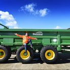 Greg Shepherd, MD of Bunning Agricultural Engineers at Gressenhall, pictured with one of their muck