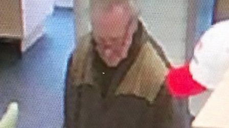 A CCTV image of a man police believe may be Gordon Lloyd from Dereham. Picture: Norfolk Police