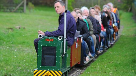 A busy Eaton Park on Sunday, where the Eaton Park Miniature Railway was in full swing. Photo : Stev