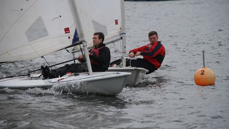Action from Snowflake Sailing Club at the weekend. Picture: Ian Symonds