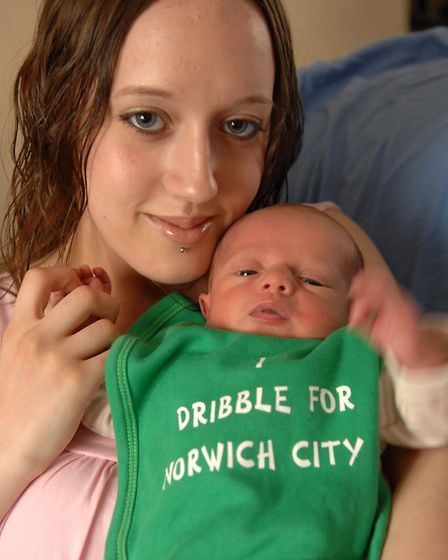 Jemma Todd, whose partner Richard Moore died at MacDonald's in Norwich, with their five-day-old baby