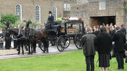 Funeral of Richard Moore at St Catherine's Church, Aylsham Road He died at McDonalds on the Haymark
