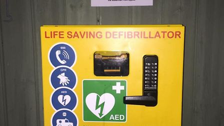 The defib has been replaced at Gorleston Links Bowls Club after vandals wrecked the old one. Photo: