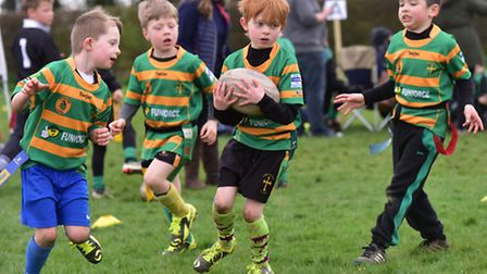 North Walsham Rugby Club hosted a mini rugby festival for junior teams from around the county. Geor