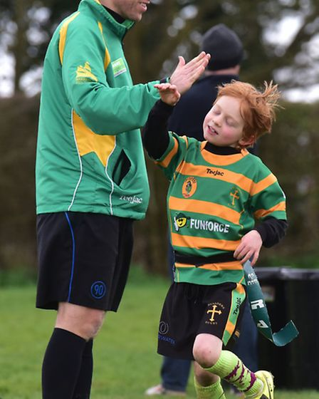 North Walsham Rugby Club host a mini rugby festival for junior teams from around the county.George