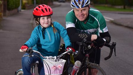 Peter Bussey and his granddaughter Georgia, 6, are planning a 50-mile charity cycle trip from the Ho