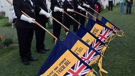 The Royal British Legion Bungay branch has standard bearers from Suffolk who attend many events thro
