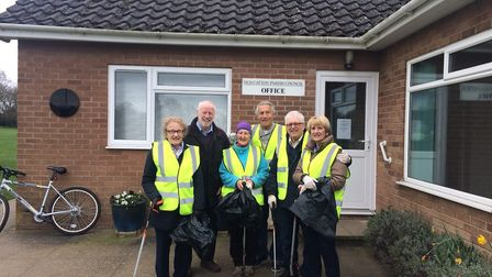 Volunteers at the Big Village Clean Up in Old Catton. Picture: Old Catton Parish Council
