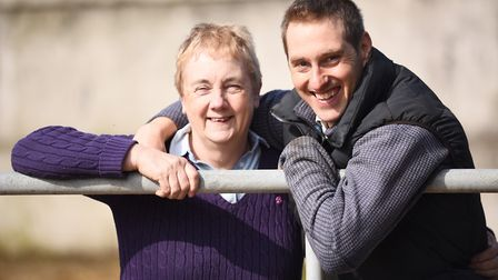 Ava Barrell and her son Tim (pictured) have launched a pig finishing enterprise at their farm in Shi
