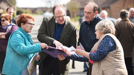 George Freeman MP visited residents of Jubilee Road in Watton, that were affected by flooding in Jun
