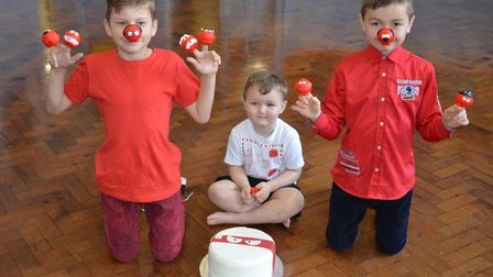Pupils celebrate Red Nose Day at Eastgate Academy.