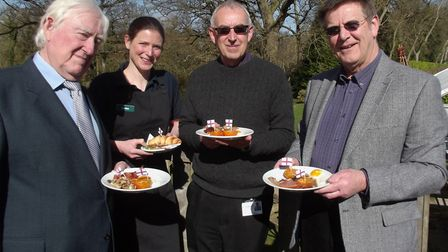 English Tourism Week kicks off at Fairhaven Woodland and Water Garden. Left to right: Councillor Fra