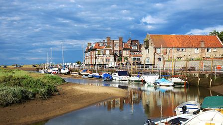 Blakeney Quay. In The Norfolk Mystery, the characters investigate when the vicar of Blakeney is foun