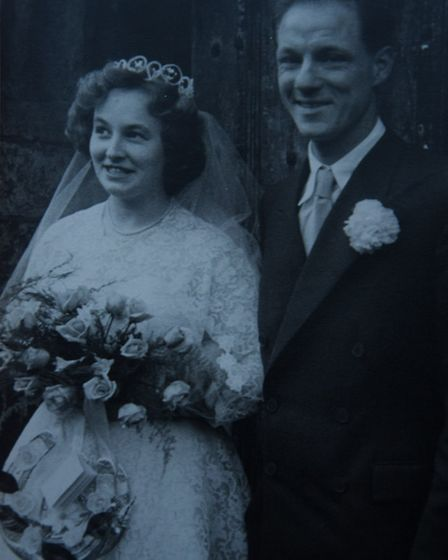 Jill and Philip Armes on their wedding day. Picture: supplied by Jill and Philip Armes
