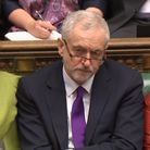 Labour leader Jeremy Corbyn listens as Chancellor of the Exchequer Philip Hammond makes his Budget s