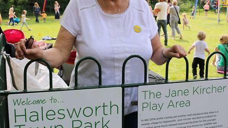 Jane Ringwood at the opening of the play area in Halesworth named in her honour. Picture: Archant.