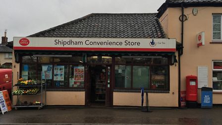The post office and convenience store in Shipdham, which villagers are hoping to save.