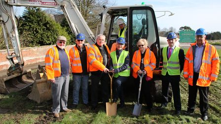 A sod-cutting ceremony was held to mark the start of work on the new roundabout at Felbrigg. Picture