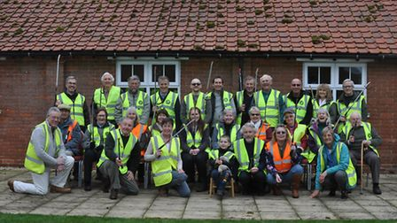 Some of the volunteers who took part in the litter pick in Hoe and Worthing