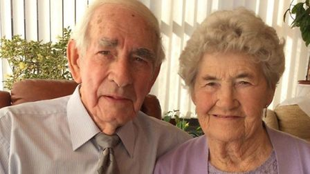Trevor and Mae Moffett, from Attleborough, who will celebrate their 60th wedding anniversary on 30t