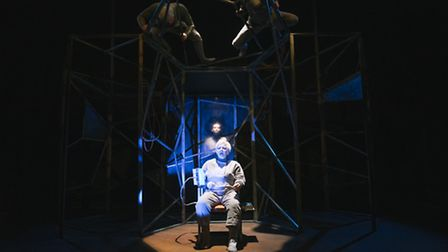 Pilot Theatre'sThe Machine Stops, from left-to-right Adam Slynn, Rohan Nedd, Ricky Butt and Maria Gr