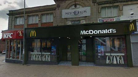 McDonalds on Regent Road in Great Yarmouth. Photo from Google Maps
