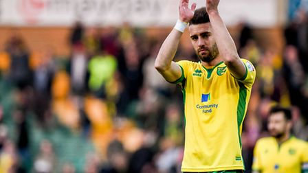 Ivo Pinto thanks the Norwich City fans after full-time on Saturday. Picture: Matthew Usher/Focus Ima