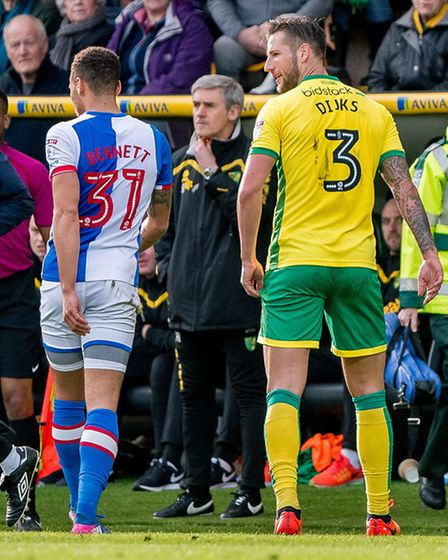 Mitchell Dijks could have little complaints over this early sending off against Rovers. Picture: Mat