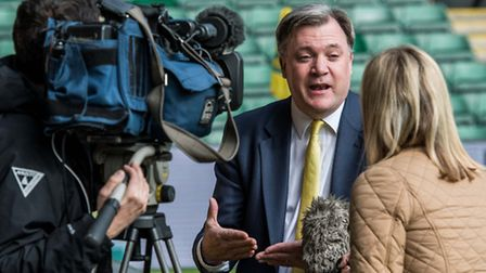Norwich City chairman Ed Balls will have to get his thinking cap on from here. Picture: Matthew Ushe