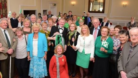 The Irish Society of East Anglia celebrate their 125th anniversary at The Maids Head, Norwich. Pictu