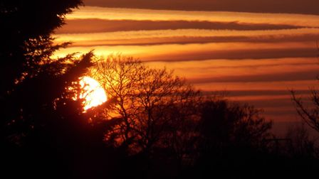 A lovely sunset. Picture: Tina Nichols