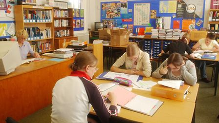 Students working at Dereham's Sixth Form College library in 2003. Photo: Graham Corney: