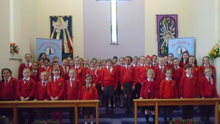 Stalham Academy choir performed to acclaim at the 39th Gorleston Music festival. Picture: STALHAM AC