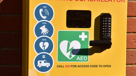 A new defibrillator will be fitted onto the West Costessey Hall on the Queen's Hills estate in Coste