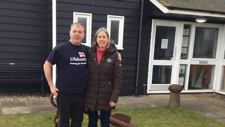 Tim Brewster with his sister, round the world yachtswoman Samantha Brewster.