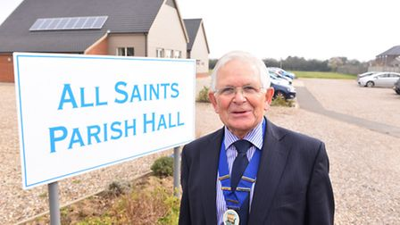 Geoff Freeman pictured outside All Saints Parish Hall as he stepped down as parish council chairman.