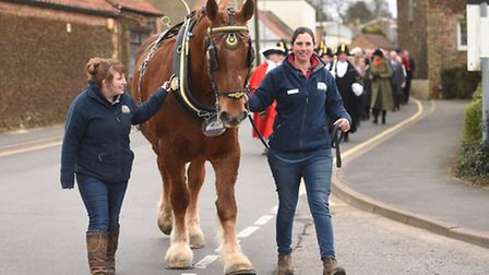 The annual St Winnold's parade makes its way through the streets of Downham Market. Pictured at the