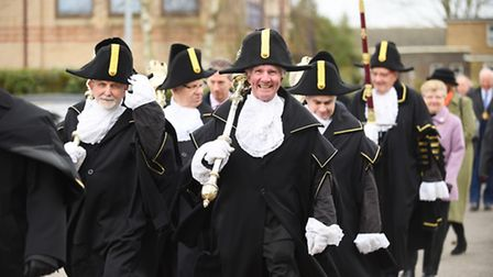 Roy Williamson all smiles during the annual St Winnold's parade in Downham Market. Picture: Ian Burt