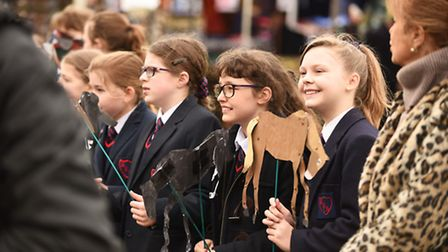 Local school children were in the town centre for the annual St Winnold's parade in Downham Market.