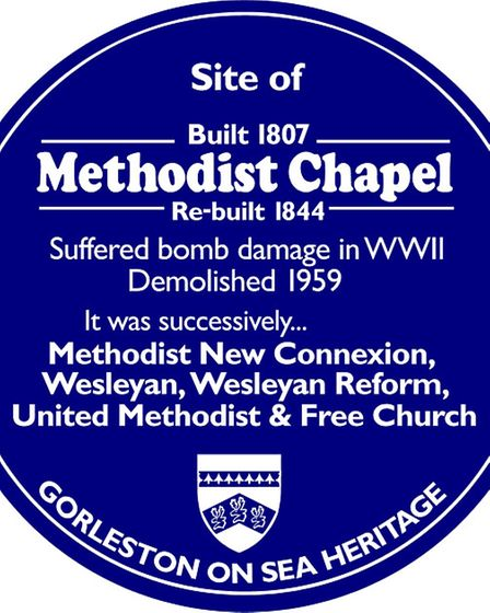 The building will also be given a blue heritage plaque from the local heritage group reflecting that