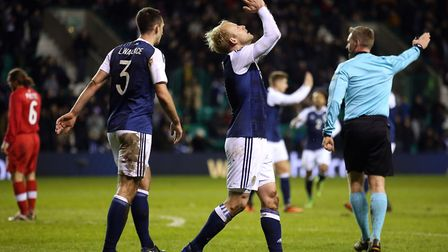 Scotland's Steven Naismith was on target against Canada. Picture: Andrew Milligan/PA Wire