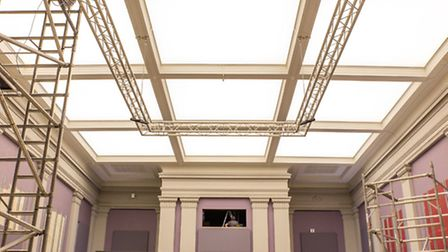 Diss Corn Hall refurbishments pictured on March 17. Picture: LUCY KAYNE