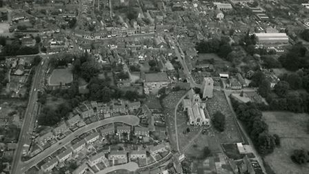 Aerial view of Dereham. Picture: Archant Archive
