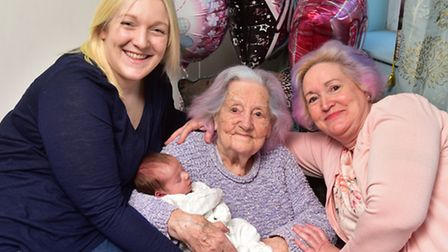 Lound resident Lily Gosling celebrates her 100th birthday her granddaughter Suzi Russell, great gran